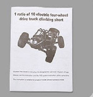 Wltoys 10428-C2 RC Car spare parts English manual book