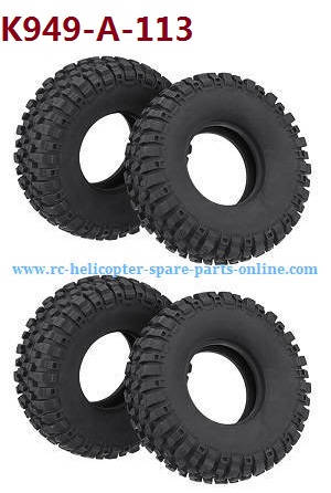 Wltoys 10428-A RC Car spare parts tire skin 4pcs