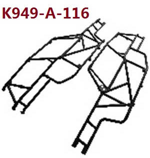 Wltoys 10428-A RC Car spare parts The roll cage K949-A-116