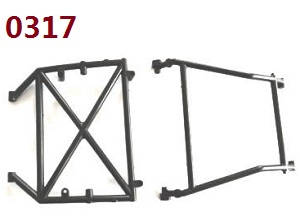 Wltoys 10428-B RC Car spare parts AB in roll cage 0317