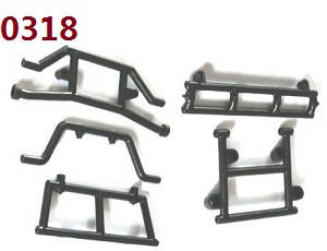 Wltoys 10428-B RC Car spare parts Front and rear crash mount 0318