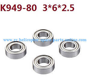 Wltoys 10428-C RC Car spare parts rolling bearing K949-80 3*6*2.5 4pcs
