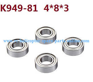 Wltoys 10428-C RC Car spare parts rolling bearing K949-81 4*8*3 4pcs