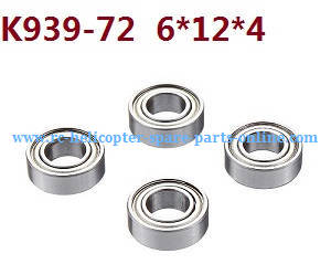 Wltoys 10428-C RC Car spare parts rolling bearing K939-72 6*12*4 4pcs