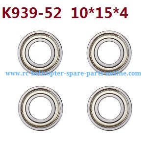 Wltoys 10428-C RC Car spare parts rolling bearing K939-52 10*15*4 4pcs