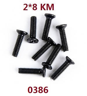 Wltoys 12409 RC Car spare parts screws 2*8KM 0386