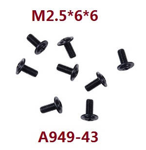 Wltoys 12409 RC Car spare parts screws 2.5*6*6 A949-43