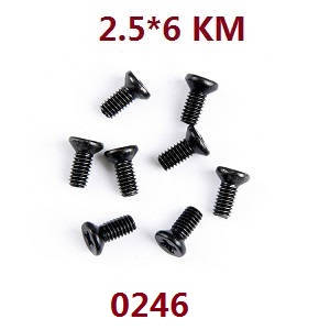 Wltoys 12409 RC Car spare parts screws 2.5*6KM 0246
