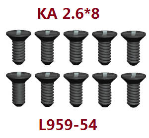 Wltoys 12409 RC Car spare parts screws KA 2.6*8 L959-54