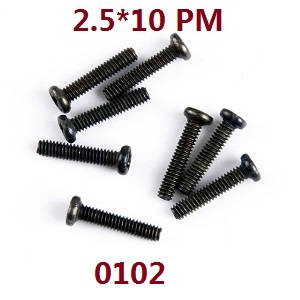 Wltoys 12409 RC Car spare parts screws 2.5*10PM 0102
