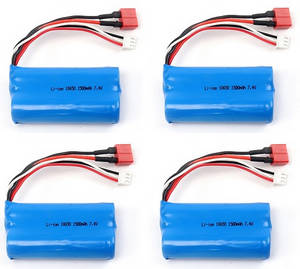 Wltoys 12409 RC Car spare parts 7.4V 1500mAh battery 4pcs