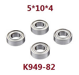Wltoys 12409 RC Car spare parts bearing 5*10*4 4pcs K949-82