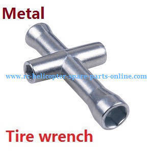 Wltoys 12409 RC Car spare parts tire wrench (Metal)