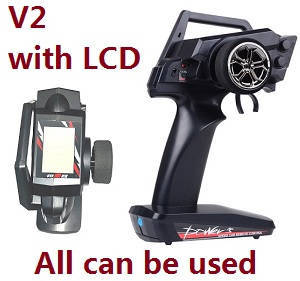 Wltoys 12409 RC Car spare parts transmitter (V2 with LCD) all can be used