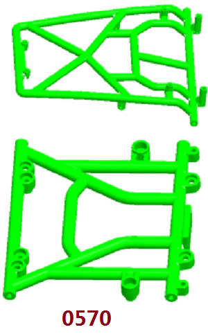 Wltoys 12409 RC Car spare parts front and roof roll cage 0570