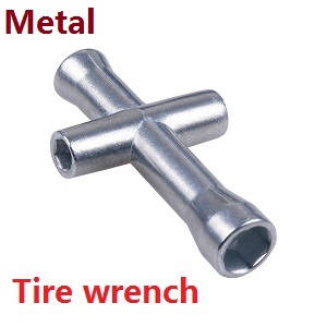 Wltoys 12628 RC Car spare parts tire wrench (metal)