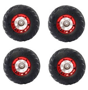 Wltoys 12628 RC Car spare parts tires 4pcs Red