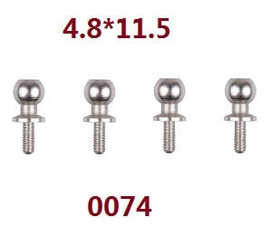 Wltoys 12628 RC Car spare parts ball screws 4.8*11.5 (0074)
