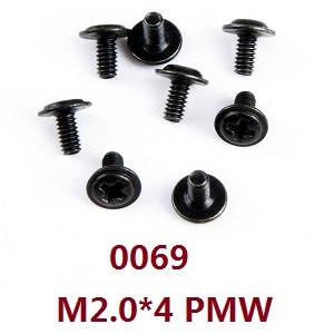 Wltoys 12628 RC Car spare parts screws M2.0*4 PMW (0069)