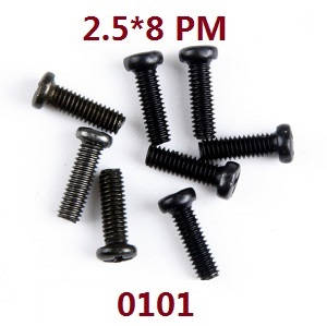 Wltoys 12628 RC Car spare parts screws 2.5*8 PM (0101)