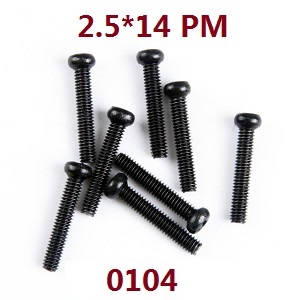 Wltoys 12628 RC Car spare parts screws 2.5*14 PM (0104)