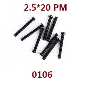 Wltoys 12628 RC Car spare parts screws 2.5*20 PM (0106)