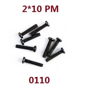 Wltoys 12628 RC Car spare parts screws 2*10 PM (0110)