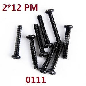 Wltoys 12628 RC Car spare parts screws 2*12 PM (0111)