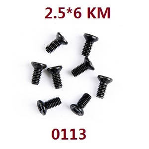 Wltoys 12628 RC Car spare parts screws 2.5*6 KM (0113)