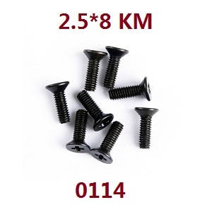 Wltoys 12628 RC Car spare parts screws 2.5*8 KM (0114)