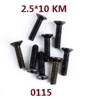 Wltoys 12628 RC Car spare parts screws 2.5*10 KM (0115)