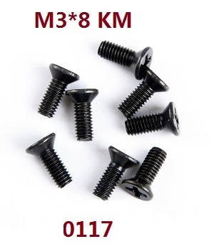 Wltoys 12628 RC Car spare parts screws 3*8 KM (0117)