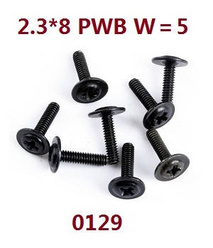 Wltoys 12628 RC Car spare parts screws 2.3*8 PWB W=5 (0129)