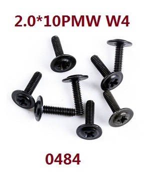 Wltoys 12628 RC Car spare parts screws 2.0*10 PMW W4 (0484)