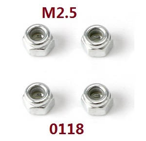 Wltoys 12628 RC Car spare parts nut M2.5 (0118)