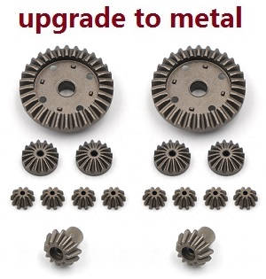 Wltoys 12628 RC Car spare parts differential planet and driven gears set (Metal 16pcs)