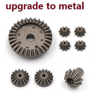 Wltoys 12628 RC Car spare parts differential planet and driven gears set (Metal 8pcs)