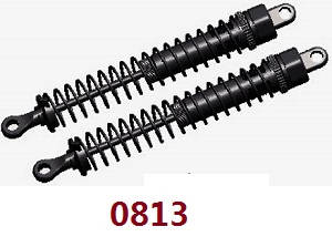 Wltoys 12628 RC Car spare parts rear shock set (0017 0813 black head)