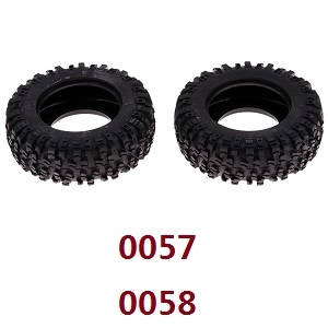 Wltoys 12628 RC Car spare parts tire skin (0057 0058)