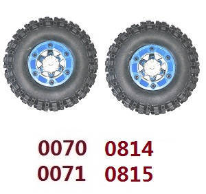 Wltoys 12628 RC Car spare parts tires 2pcs Blue (0070 0071 0814 0815)
