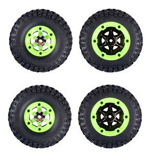 Wltoys 12628 RC Car spare parts tires 4pcs Green
