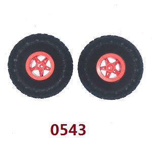 Wltoys 18428-B RC Car spare parts tires 2pcs (Red)