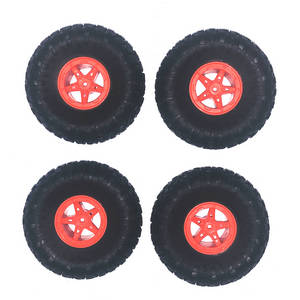 Wltoys 18428-B RC Car spare parts tires 4pcs (Red)