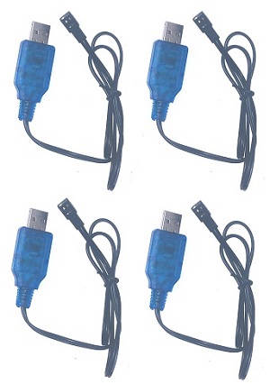 Wltoys 18428-B RC Car spare parts 4.8V USB charger wire 4pcs