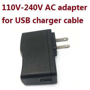 Wltoys 18428-B RC Car spare parts 110V-240V AC Adapter for USB charging cable