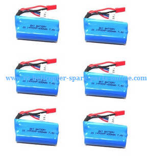 Shuang Ma 7011 Double Horse RC Boat spare parts 7.4V 650mAh battery 6pcs