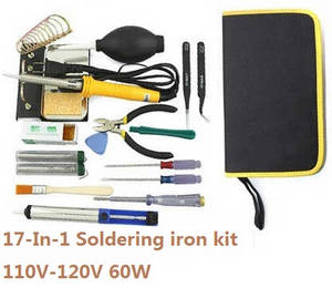 Shuang Ma 7011 Double Horse RC Boat spare parts 17-In-1 Voltage 110-120V 60W soldering iron set