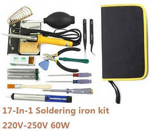 Shuang Ma 7011 Double Horse RC Boat spare parts 17-In-1 Voltage 220-250V 60W soldering iron set