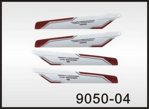 Double Horse 9050 DH 9050 RC helicopter spare parts main blades (2x upper + 2x lower)