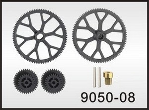 Double Horse 9050 DH 9050 RC helicopter spare parts main gear set (upper main gear + lower main gear + driven gears)